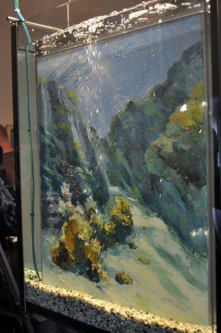 В «Ласточкином гнезде» показали картины, написанные под водой (фото), фото-1