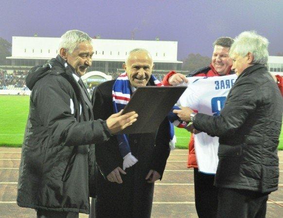 На матче «Таврия»-«Динамо» отмечали день рождения Анатолия Заяева (фото), фото-1