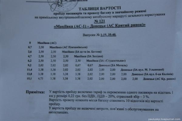 На маршрутках «Донецк- Макеевка» водители в два раза завышают установленную стоимость проезда, фото-1