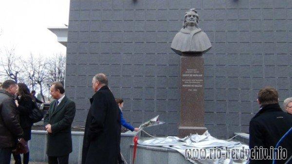 Памятник Оноре де Бальзаку відкрито у Бердичеві. Фото, фото-10