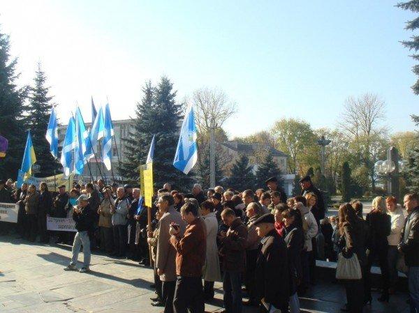 Люди, яким «увірвався терпець», пікетували Тернопільську ОДА (фото), фото-2