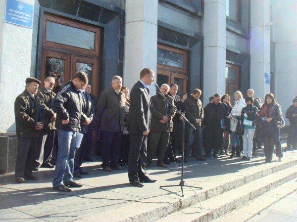 Люди, яким «увірвався терпець», пікетували Тернопільську ОДА (фото), фото-5