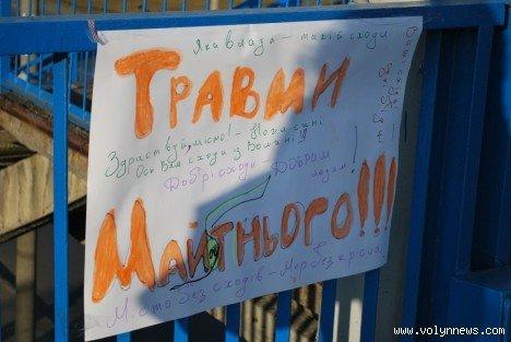 Молодь подякувала владі за міст з дірками (ФОТО), фото-2