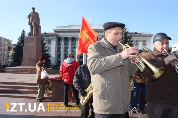 У Житомирі комуністи відсвяткували річницю Жовтневої  революції (ФОТО), фото-5