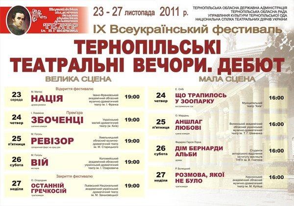 На фестиваль до Тернополя привезуть виставу, якої ще і в столиці не бачили, фото-1