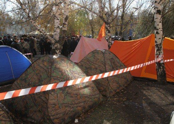 В Донецке третий день продолжается голодовка чернобыльцев (фото), фото-5