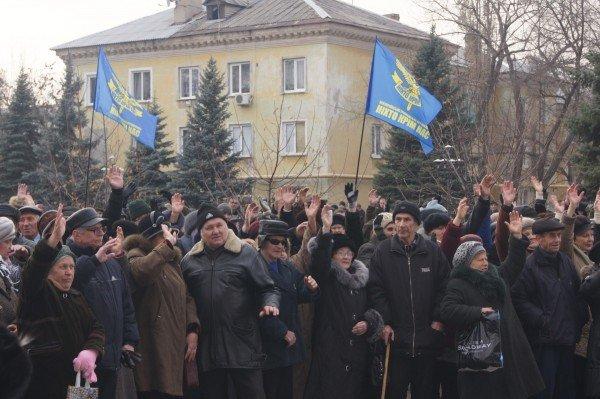 Две тысячи донетчан вышли на митинг, протестуя против закрытия стационарного отделения больницы (фото), фото-2
