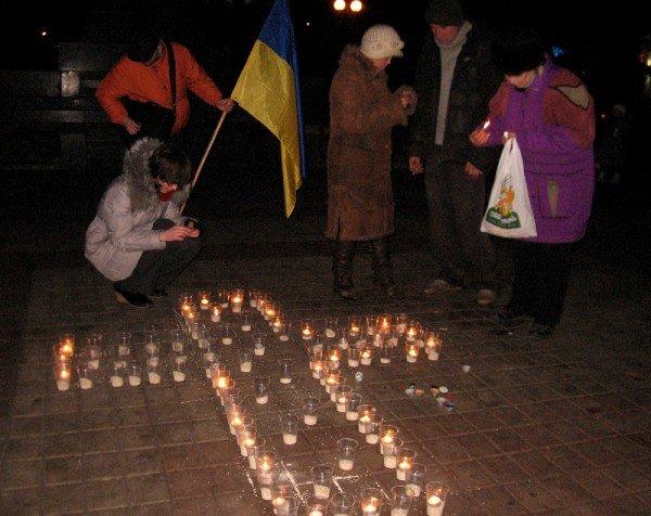 В Артемовске акция в память жертвам голодомора  закончилась панихидой, фото-1