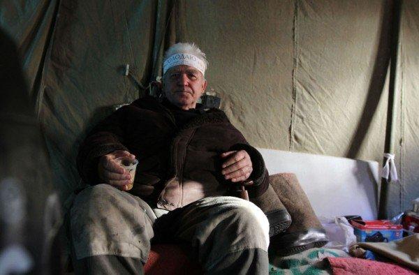 Погибшего в Донецке на акции протеста чернобыльцев Геннадия Коноплева похоронили сегодня на родине, фото-1