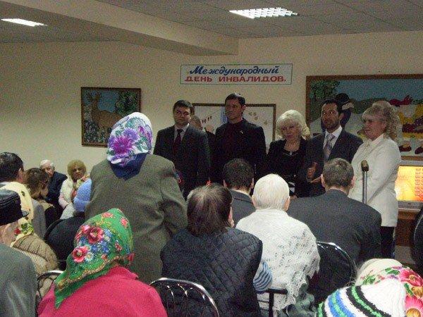 Представители облсовета подарили горловским инвалидам домашний кинотеатр, фото-5