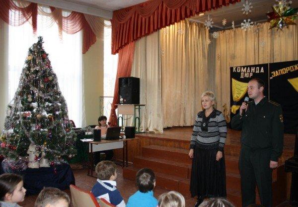 В Запорожье пожарный Дед Мороз напомнил детям о безопасности  (ФОТО), фото-4
