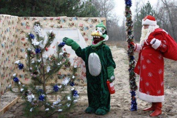 Запорожские спасатели торжественно сожгли новогоднюю елку (ФОТО), фото-2