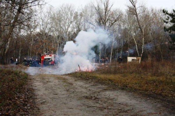 Запорожские спасатели торжественно сожгли новогоднюю елку (ФОТО), фото-4