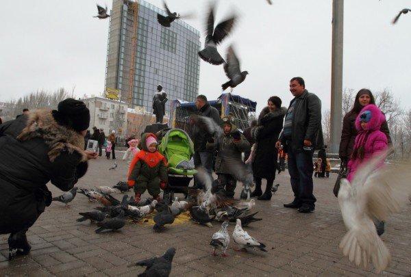 В Донецке совсем недавно была зима (фото), фото-11