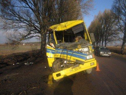 На Львівщині пасажирський автобус «Львів-Добротвір» зіткнувся з деревом, фото-1