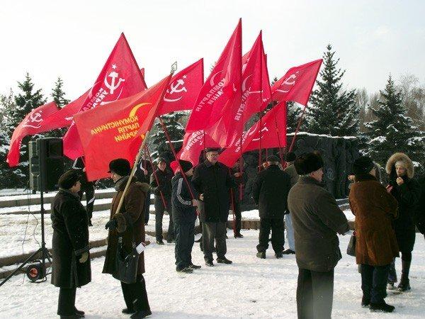 Коммунисты в Горловке ответили на шествие «Свободовцев» митингом и призвали «мочить» неонацистов, фото-2