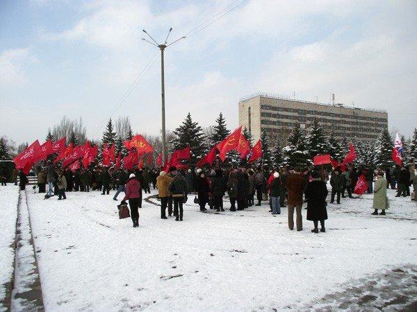 Коммунисты в Горловке ответили на шествие «Свободовцев» митингом и призвали «мочить» неонацистов, фото-3