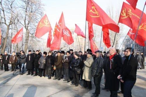 ФОТОРЕПОРТАЖ: Запорожские коммунисты призвали Украину и Россию объединится, фото-3