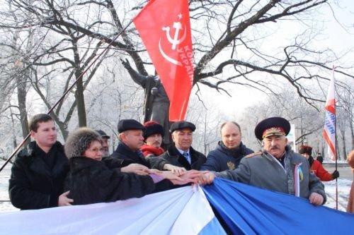 ФОТОРЕПОРТАЖ: Запорожские коммунисты призвали Украину и Россию объединится, фото-5