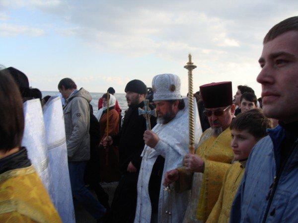 Боярчук с подчиненными отметили Крещение: помолились и искупались в море (ФОТО+ВИДЕО), фото-9