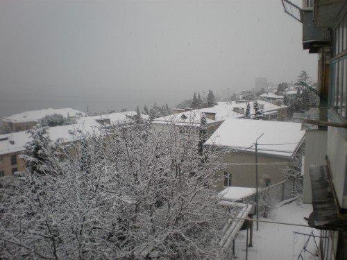 Большую Ялту снова засыпало снегом (ФОТО), фото-2