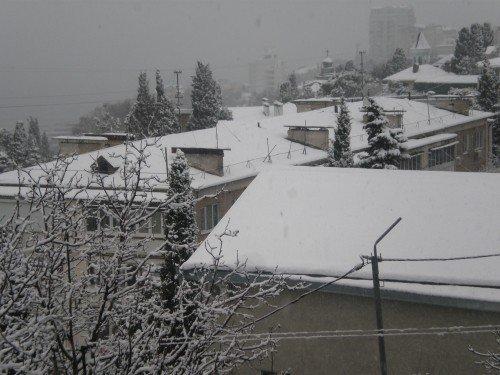 Большую Ялту снова засыпало снегом (ФОТО), фото-1