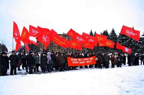 Запорожские коммунисты отметили день смерти дедушки Ленина (ФОТО), фото-1