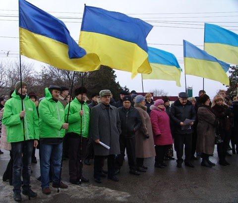 В Симферополе представители оппозиции и активисты вместе отпраздновали День Соборности Украины (фото), фото-1