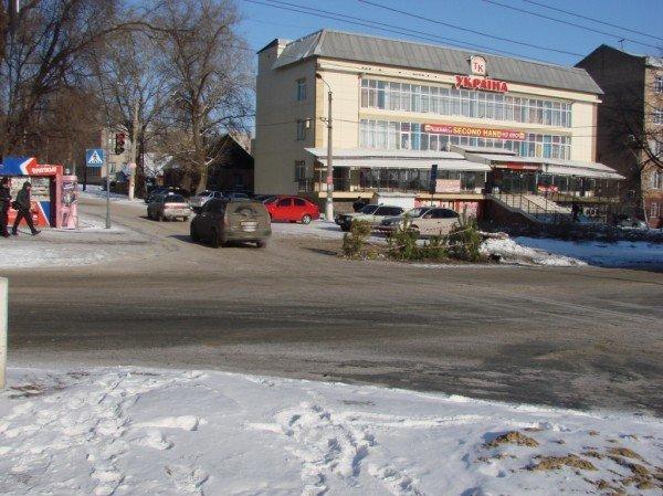 В центре Артемовска из асфальта выросли... елки!, фото-1
