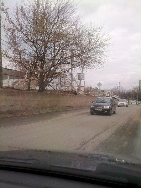 Фотофакт: Сломанная ветка заставляет симферопольских водителей нарушать ПДД, фото-1