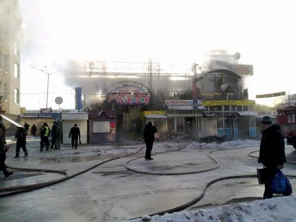 В Тернополі горів ринок «Південний» (фото, відео), фото-2