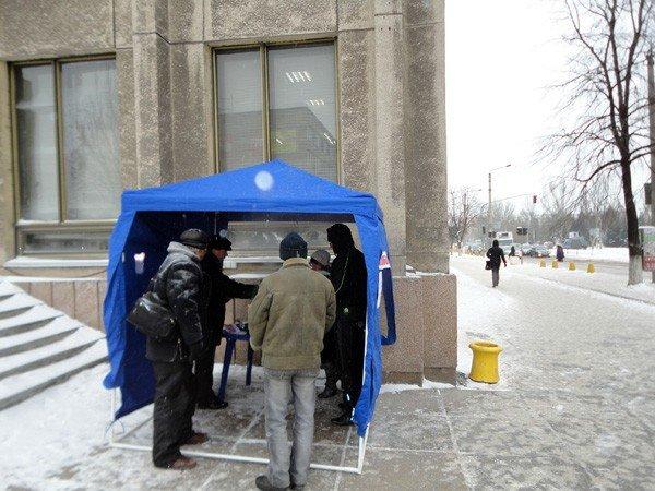 Городская организация Партии регионов организовала мобильные пункты обогрева, фото-2