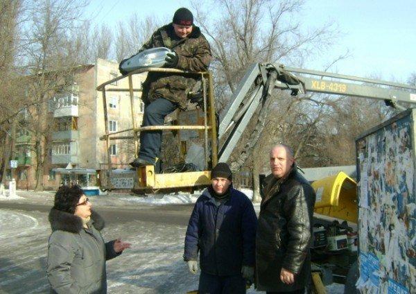 В темных переулках Днепродзержинска появились фонари (ФОТО), фото-2