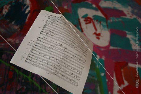 В Симферополе нарисовали музыку знаменитого крымского композитора (фото), фото-3