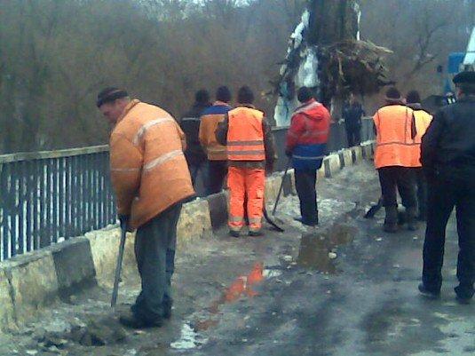 Через дерево під мостом МНСники перекрили дорогу на 2 години (ФОТО), фото-2