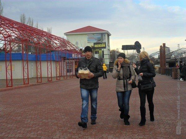 Феодосийцы приручают лебедей хлебом (фото), фото-9