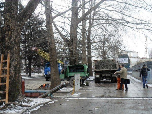 В Симферополе копают под Верховной Радой Крыма (фото), фото-6
