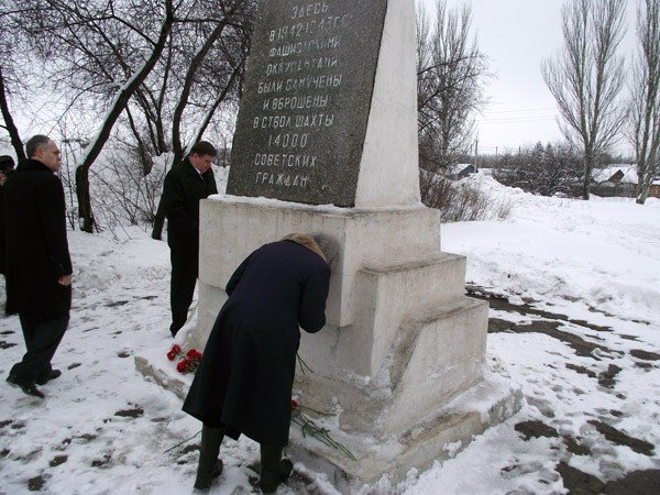 Игорь Шкиря вновь посетил Горловку. На этот раз его внимание привлек памятник погибшим во время ВОВ на Румянцево, фото-2