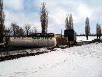В Донецкой области перевернулась цистерна с газом (фото), фото-2