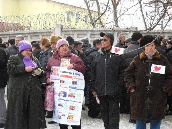 Под Качановской колонией прошел митинг с участием ВО «Батьківщина» и чернобыльцев (фоторепортаж), фото-3