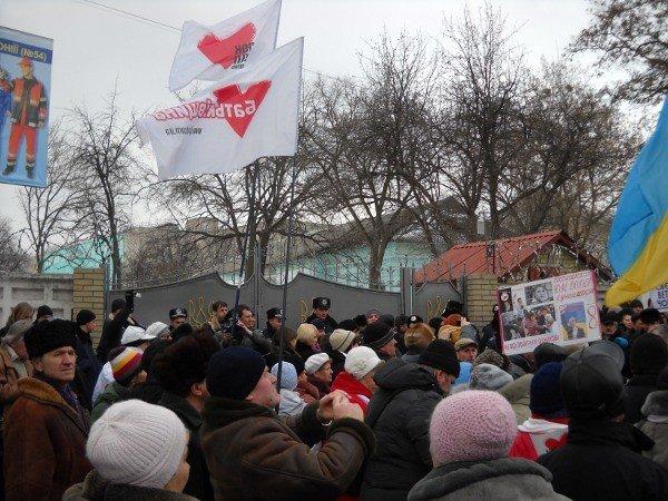 Под Качановской колонией прошел митинг с участием ВО «Батьківщина» и чернобыльцев (фоторепортаж), фото-8