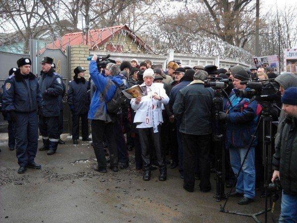 Под Качановской колонией прошел митинг с участием ВО «Батьківщина» и чернобыльцев (фоторепортаж), фото-9