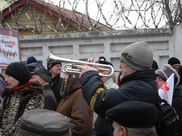 Под Качановской колонией прошел митинг с участием ВО «Батьківщина» и чернобыльцев (фоторепортаж), фото-10