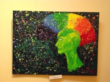 Юные горловские художницы в своих картинах рассказывают о «Свободе ощущений», фото-2
