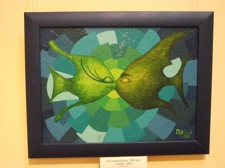 Юные горловские художницы в своих картинах рассказывают о «Свободе ощущений», фото-3