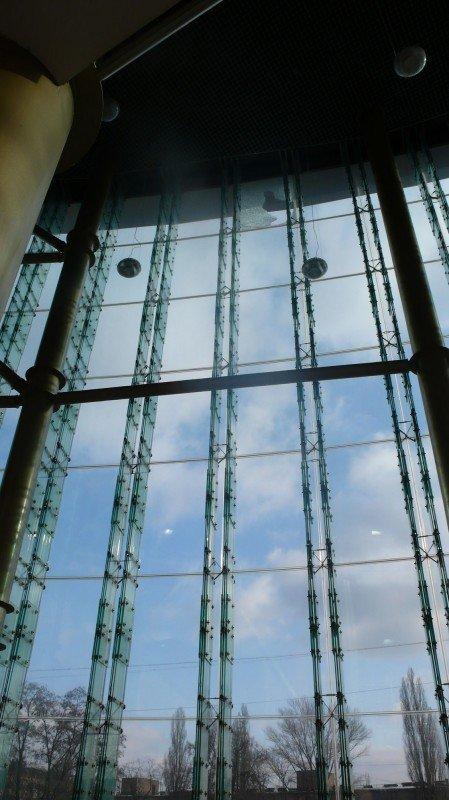 Мэр Донецка обещает разобраться с виновными в падении на головы горожан стеклопакета возле здания торгового центра, фото-1
