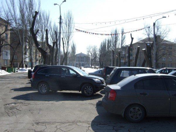 В Донецке вырубили парковую аллею, чтобы расчистить место для  автопарковки (фото), фото-5