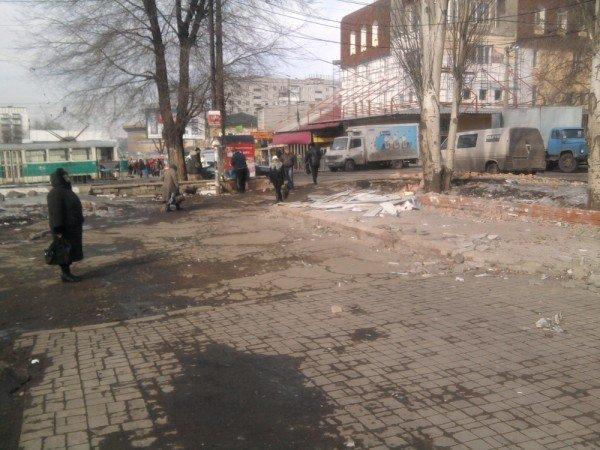 В Донецке исчез стихийный рынок (фото), фото-1