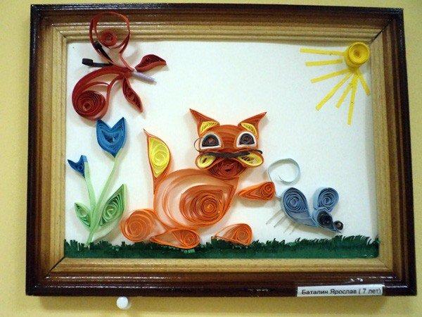 Квиллинг-работы горловских школьников пришлись по душе посетителям музея миниатюрной книги, фото-4
