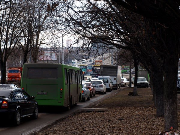 Небывалая пробка на проспекте 50-летия СССР в Харькове (ФОТО), фото-11